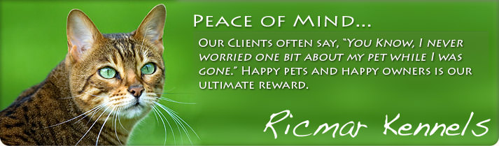 "Peace of mind: Our Clients often say, ""You know, I never worried one bit about my pet while I was gone."" Happy pets and happy owners is our ultimate reward."